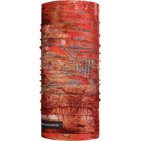 Buff National Geographic Coolnet UV+ accessori collo rosso